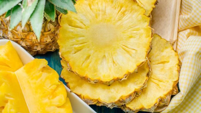 Ilustrasi buah nanas (iStockphoto)