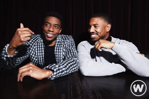 """Black Panther"" Chadwick Boseman and Michael B Jordan"