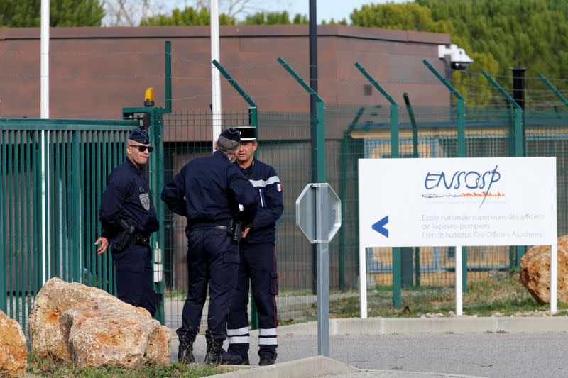 People are quarantined as preventive measure in light of the coronavirus outbreak, in Aix-en-Provence
