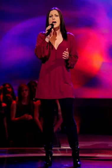 Carly Smithson performs as one of the top 24 contestants on the 7th season of American Idol.