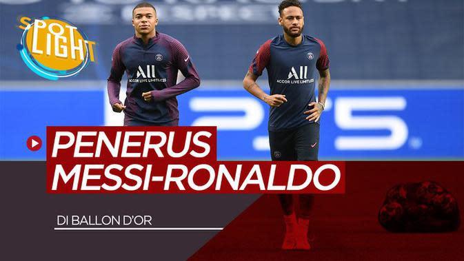 VIDEO: Kylian Mbappe, Neymar dan 3 Pemain Muda Penerus Lionel Messi dan Cristiano Ronaldo di Ballon D'Or