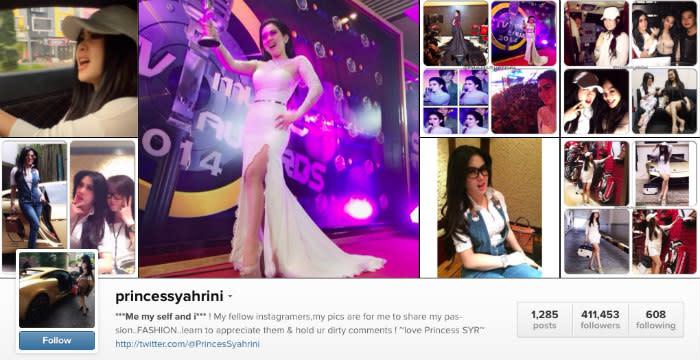syahrini instagram