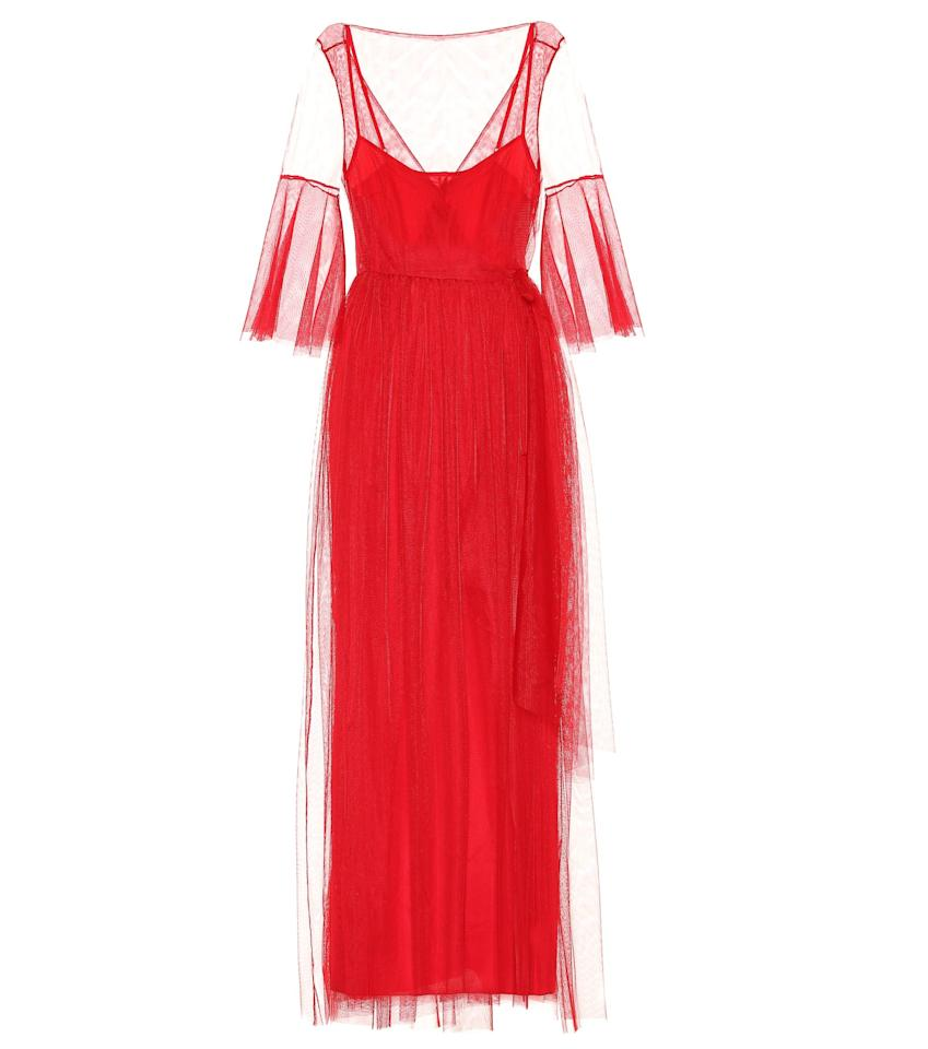"""<p><strong>Staud</strong></p><p>mytheresa.com</p><p><strong>$262.00</strong></p><p><a href=""""https://go.redirectingat.com?id=74968X1596630&url=https%3A%2F%2Fwww.mytheresa.com%2Fen-us%2Fstaud-tulle-maxi-dress-1012226.html&sref=https%3A%2F%2Fwww.harpersbazaar.com%2Ffashion%2Ftrends%2Fg33855325%2Fhalloween-costume-ideas-red-dress%2F"""" target=""""_blank"""">Shop Now</a></p><p>Staud's maxi is the perfect fashionable yet costume-worthy piece to include in your Lydia ensemble. </p>"""