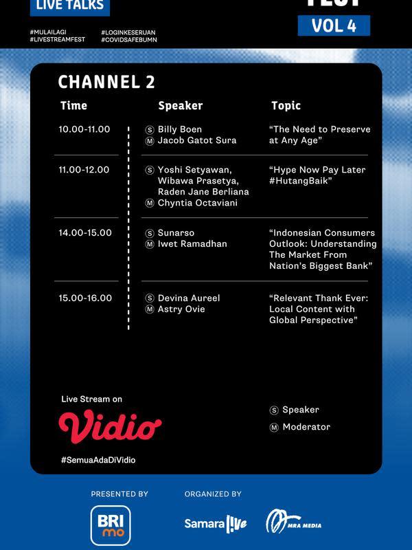 Live Stream Fest Vol. 4 Program Live Talks 2. (Sumber: Vidio)
