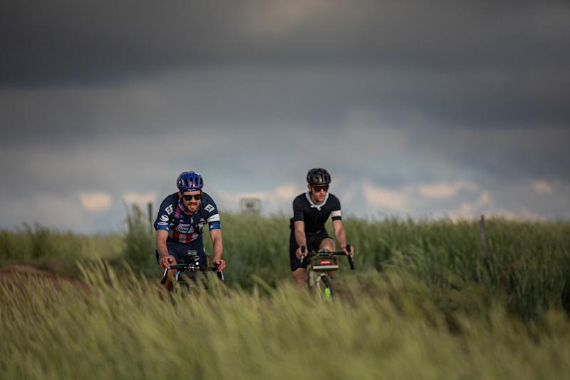 EF Pro Cycling' Alex Howes and friend Spencer Powlison tackle the 355km route from Colorado to Kansas