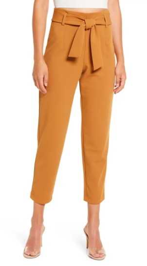 Leith Belted Tapered Pants (Photo via Nordstrom)