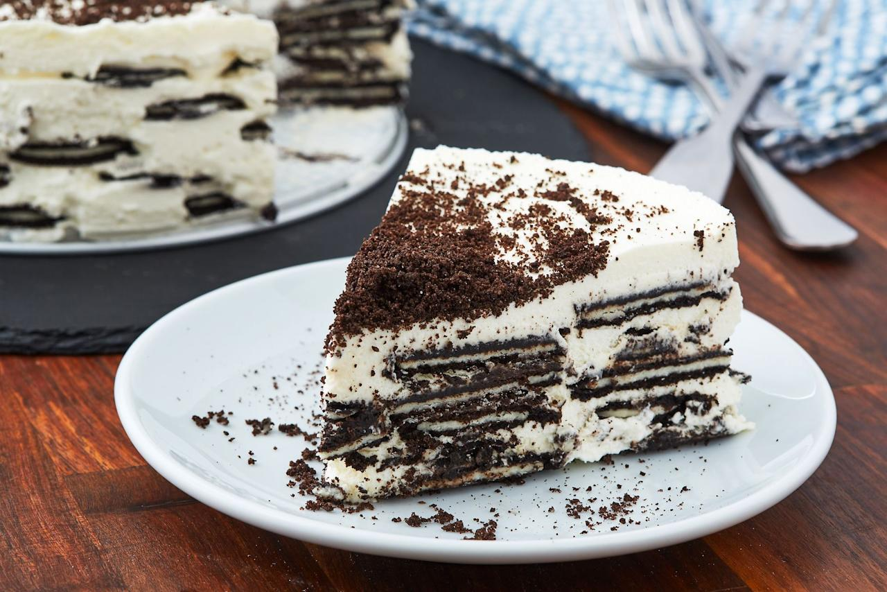 """<p>When summer strikes, you shouldn't be subjected to that oven heat just to satisfy your sweets cravings—that's where the icebox cake comes into play. While the dessert is typically made with layers of cookies and whipped cream, these 10 takes on the classic cake will kick your new favorite no-bake dessert up a notch. For more dessert ideas, here are 70+ of our favorite <a href=""""https://www.delish.com/cooking/recipe-ideas/g2887/138-no-bake-desserts/"""" target=""""_blank"""">no-bake sweets</a> and even more <a href=""""https://www.delish.com/cooking/g1631/summer-dessert-recipes/"""" target=""""_blank"""">summer-friendly desserts</a>!</p>"""