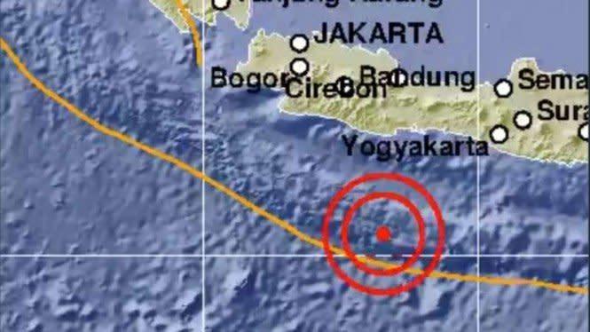 Gempa Bumi Magnitudo 5,2 Guncang Pangandaran