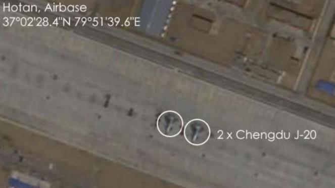 VIVA Militer : Gambar satelit ungkap keberadaan pesawat siluman J-20 China