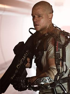 'Elysium' Trailer: See Bulked-Up, Bald Matt Damon Battle Futuristic Baddies