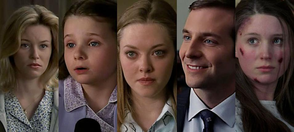 "Elizabeth Banks '01 -- ""Sacrifice"" (""SVU"") Abigail Breslin '04 -- ""Birthright"" (""SVU"") Amanda Seyfried '04 -- ""Outcry"" (""SVU"") Bradley Cooper '05 -- ""Night"" (""SVU""), '05 ""Day"" (TBJ) Rooney Mara '06 -- ""Fat"" (""SVU"")"