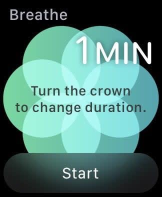 Apple Watch Breathe app
