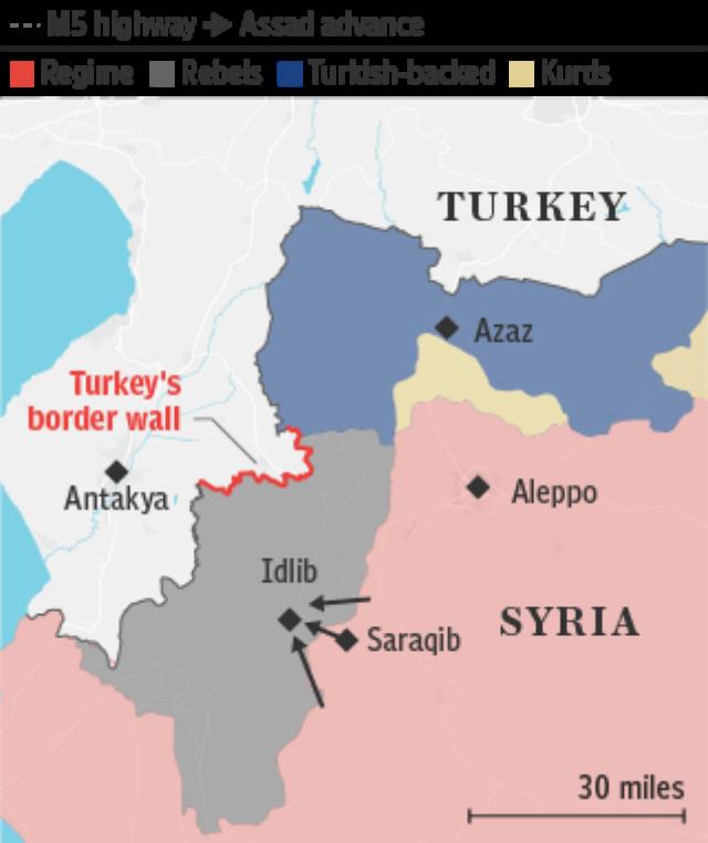 Syria Turkey border _ Idlib