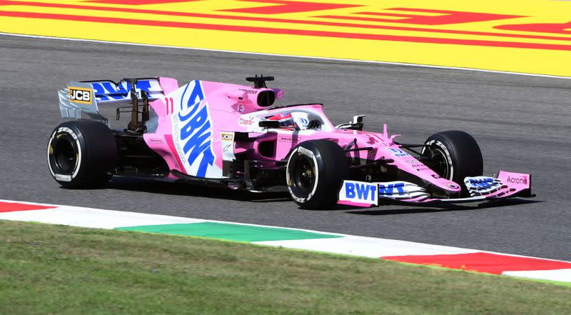 Motor racing: Perez handed one place grid drop for Tuscan GP