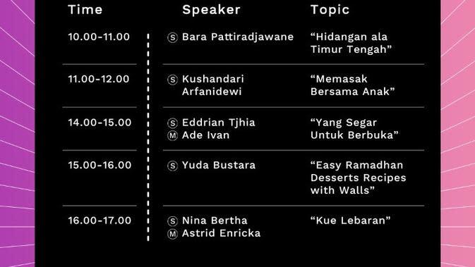 Intip Inspirasi Menu Idul Fitri di Live Stream Fest Vol. 3 Hari Kedua Edisi Ramadan