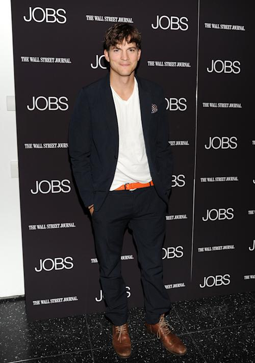 """Actor Ashton Kutcher attends a special screening of """"JOBS"""" hosted by The Wall Street Journal at the Museum of Modern Art on Wednesday, Aug. 7, 2013, in New York. (Photo by Evan Agostini/Invision/AP)"""