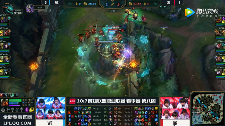 QG keep up pressure with poke threat and can easily dive turrets (lolesports)