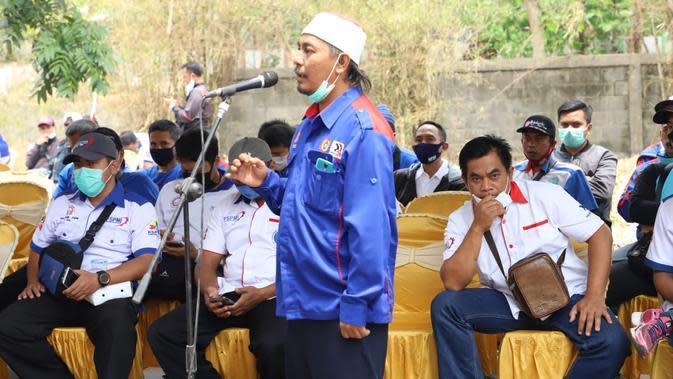 Cegah Klaster Baru, Ratusan Buruh di Mojokerto Pilih Dialog UU Cipta Kerja dengan Forkopimda