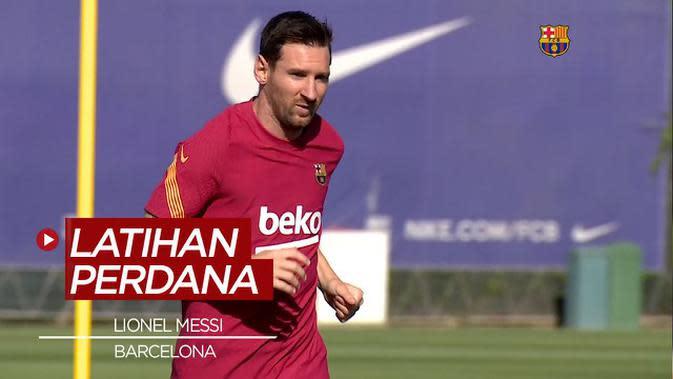 VIDEO: Mengintip Latihan Lionel Messi Usai Pastikan Diri Tetap di Barcelona