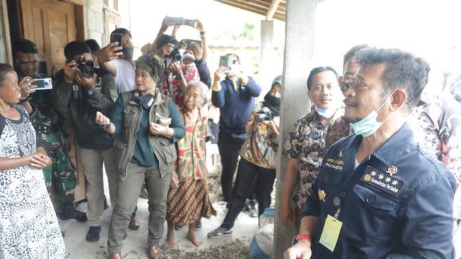 Mentan Syahrul Yasin Limpo mengunjungi Desa Giriroto, Kecamatan Ngemplak, Kabupaten Boyolali pada hari Kamis (15/10),