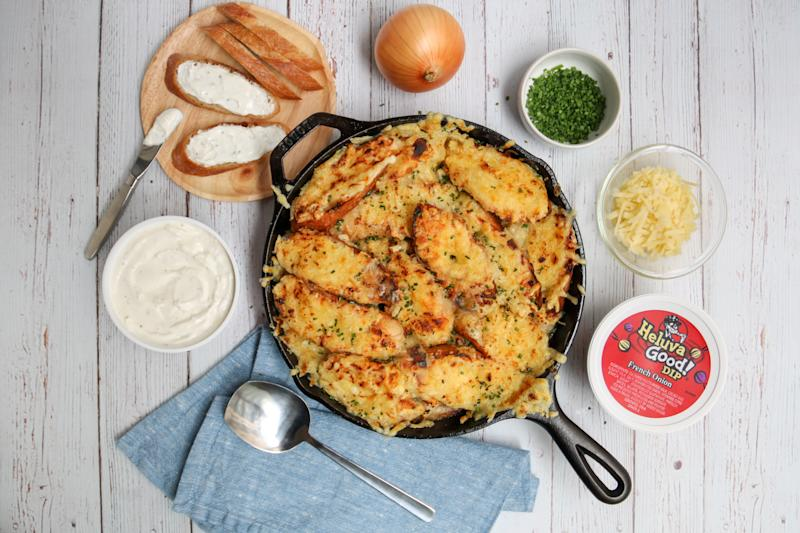 Guy Fieri's French onion chicken with Heluva Good French Onion Dip (Photo: Heluva Good)