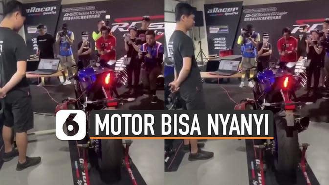 VIDEO: Unik Motor Bisa Nyanyi dengan Suara Mesinnya