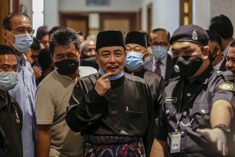 Sabah Chief Minister Datuk Hajiji Noor is pictured at the state administrative building in Kota Kinabalu September 29, 2020. — Picture by Firdaus Latif