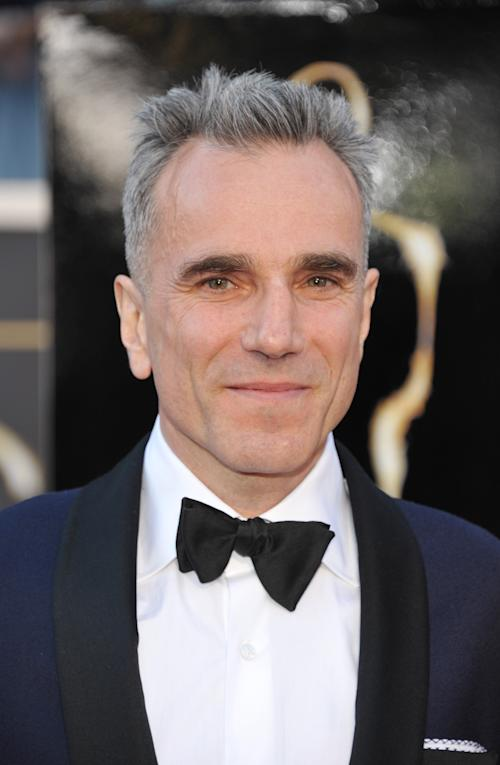 Actor Daniel Day-Lewis arrives at the Oscars at the Dolby Theatre on Sunday Feb. 24, 2013, in Los Angeles. (Photo by John Shearer/Invision/AP)