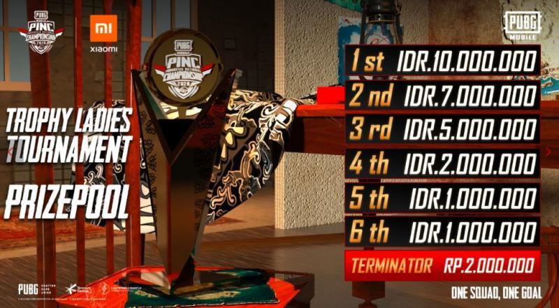 Pembagian hadiah turnamen PINC Ladies. | Sumber: situs resmi
