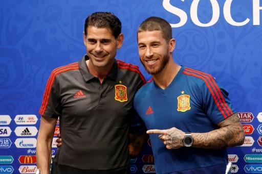 Fernando Hierro and Sergio Ramos show a united front in Sochi ahead of Spain's World Cup opener