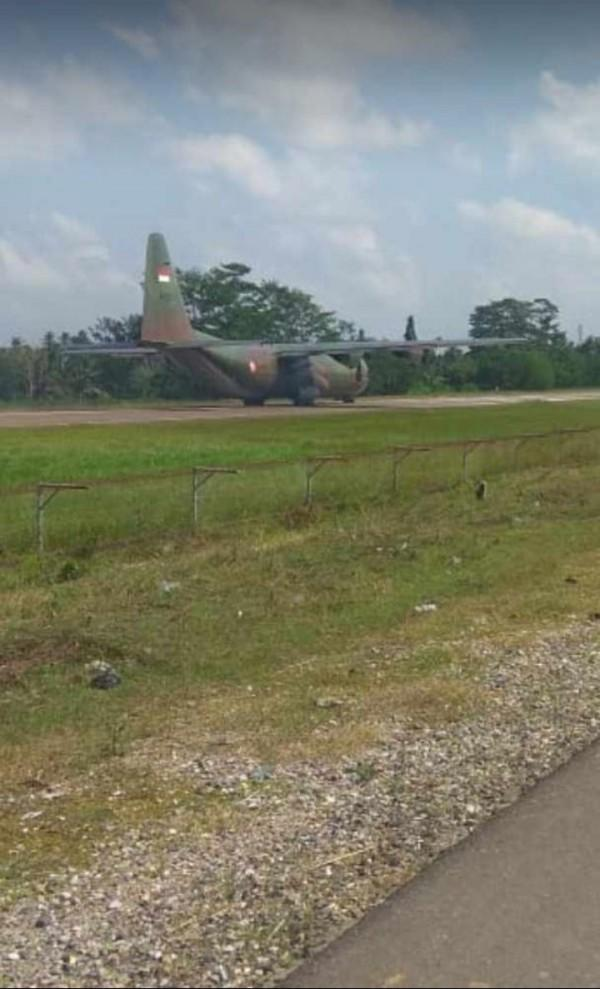 Mesin Rusak, Pesawat Hercules TNI AU Mendarat Darurat di Aceh Utara
