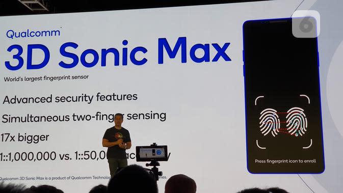 Janjikan Keamanan Ekstra, Qualcomm Umumkan Teknologi Fingerprint 3D Sonic Max