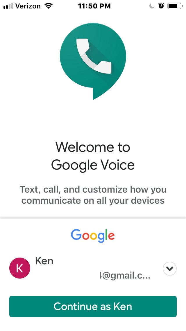 how to set up google voice gv1