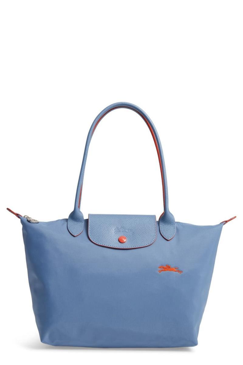 LONGCHAMP Medium Canvas Club Shoulder Tote Bag