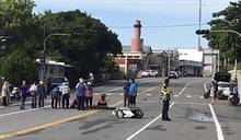 阿嬤騎機車載孫上學 遭貨車追撞噴飛30公尺雙亡