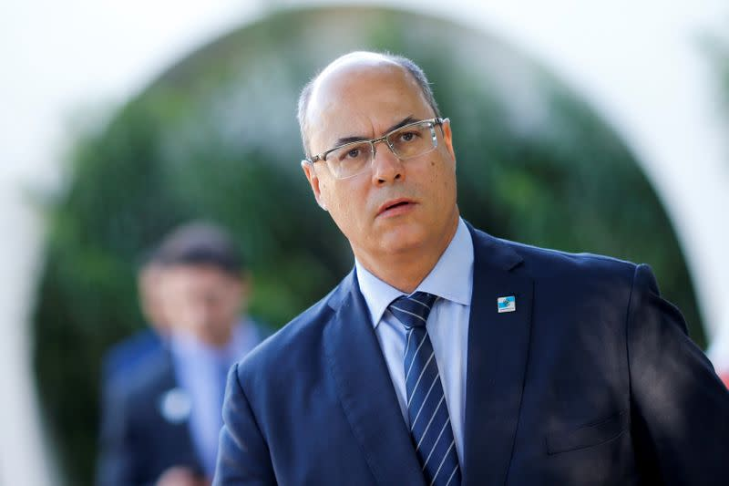 FILE PHOTO: Rio de Janeiro's Governor Wilson Witzel is seen after a meeting with Brazil's President Jair Bolsonaro at the Senate President's home in Brasilia