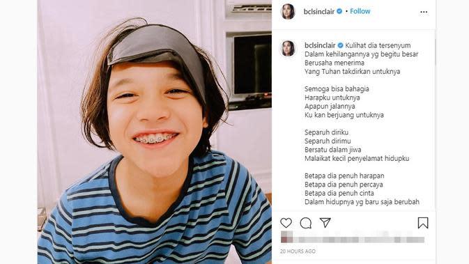 Putra Bunga Citra Lestari, Noah Sinclair berulang tahun yang ke-10 pada 22 September 2020. (dok. Instagram @bclsinclair/https://www.instagram.com/p/CFbYurBF3Zp/?hl=en