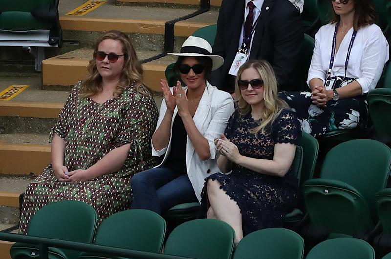 The Duchess of Sussex attended the match with two of her American friends and was seated in front of a security guard and her personal assistant, away from the rest of the crowd. Photo: Getty Images