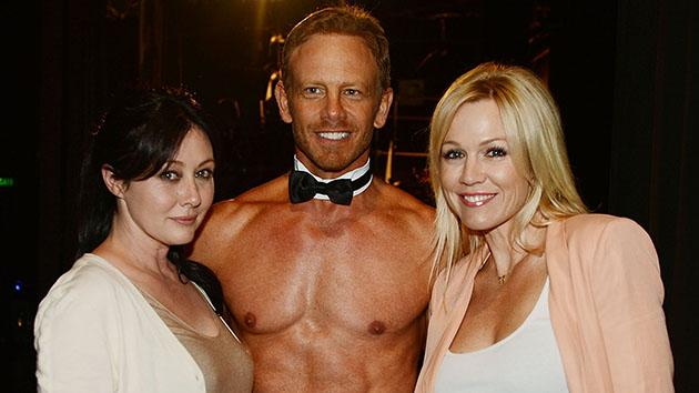 Mini-'Beverly Hills, 90210' Reunion Alert! Frenemies Shannen Doherty and Jennie Garth Hang With Ian Ziering