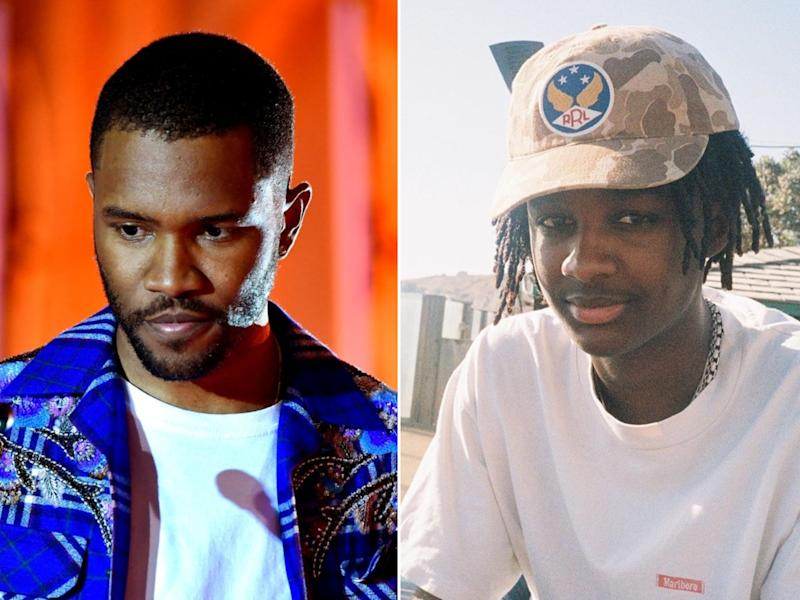 Musician Frank Ocean, and his 18-year-old brother Ryan Breaux: Frazer Harrison/Getty Images/Paris Brosnan/Instagram