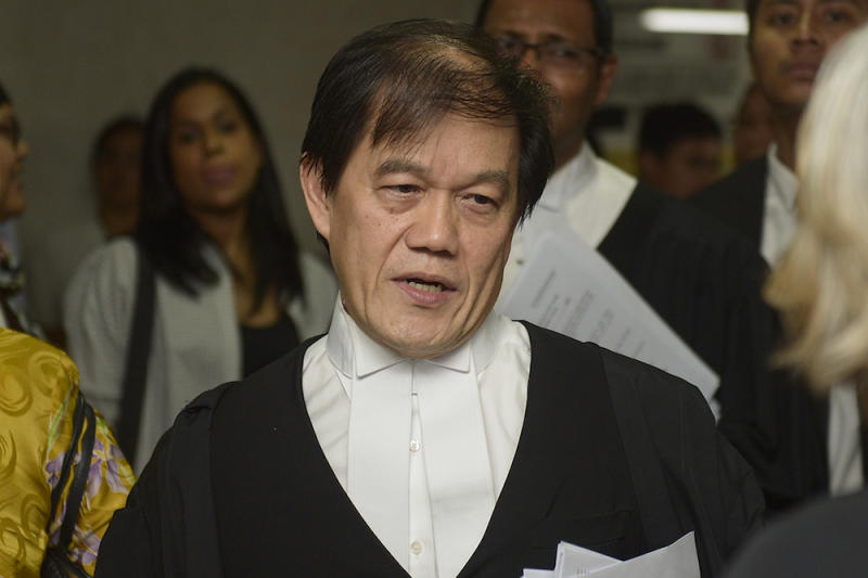 Azlan agreed with lawyer Hisyam Teh Poh Teik's (pic) suggestion that these payments were all 'above board' and 'open payments' as they were made payable to lawyers who would be expected to issue receipts. — Picture by Mukhriz Hazim
