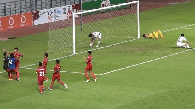 Pemain Timnas Pelajar U-18 merayakan gol ke gawang Korea Selatan di ASFC (dok: Kemenpora)