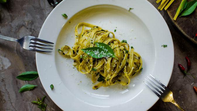 ilustrasi Resep Pasta Saus Pesto/Photo by Lgh_9 from Pexels