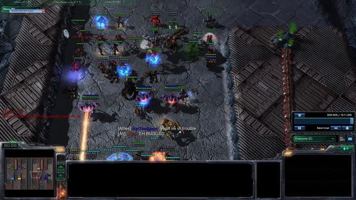 StarCraft II gameplay in action