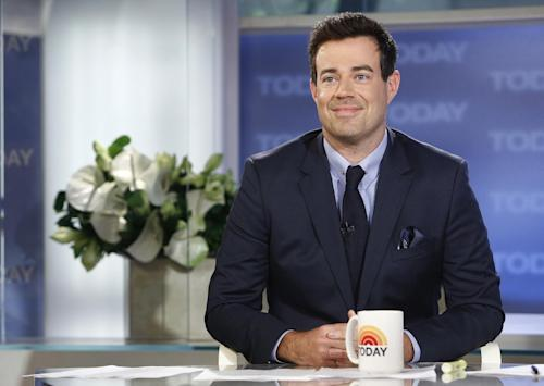 "This June 24, 2013 photo released by NBC shows Carson Daly on NBC News' ""Today"" show in New York. NBC says Carson Daly is joining the on-air team at the ""Today"" show. Daly will be host of the Orange Room, a digital studio that will be part of the show's revamped Manhattan home, Studio 1A. He starts Monday, Sept. 16, with the introduction of the new set. As host of the Orange Room, Daly will bridge the ""Today"" show's television and digital platforms. The network describes it as ""the nexus point"" between ""Today"" and its audience. Daly will continue to host and produce NBC's singing competition, ""The Voice,"" as well as serving in other roles at the network. (AP Photo/NBC, Peter Kramer)"