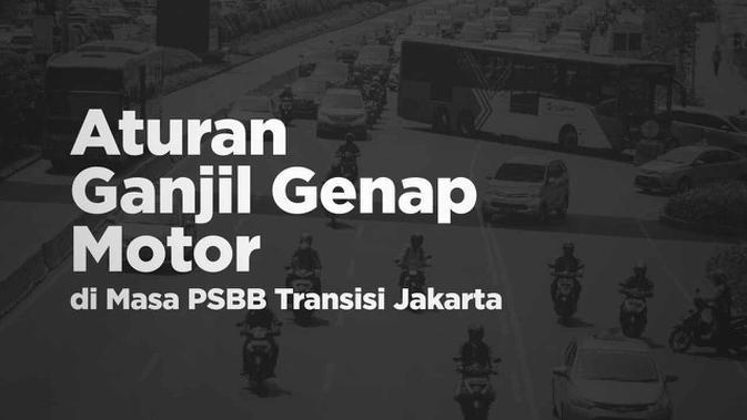 VIDEOGRAFIS: Aturan Ganjil Genap Motor di Masa PSBB Transisi Jakarta