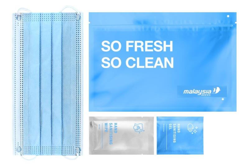Malaysia Airlines' Hygiene Kit. — SoyaCincau pic