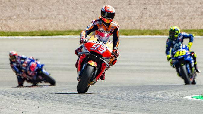 Ilustrasi balapan MotoGP. (Robert MICHAEL / AFP)