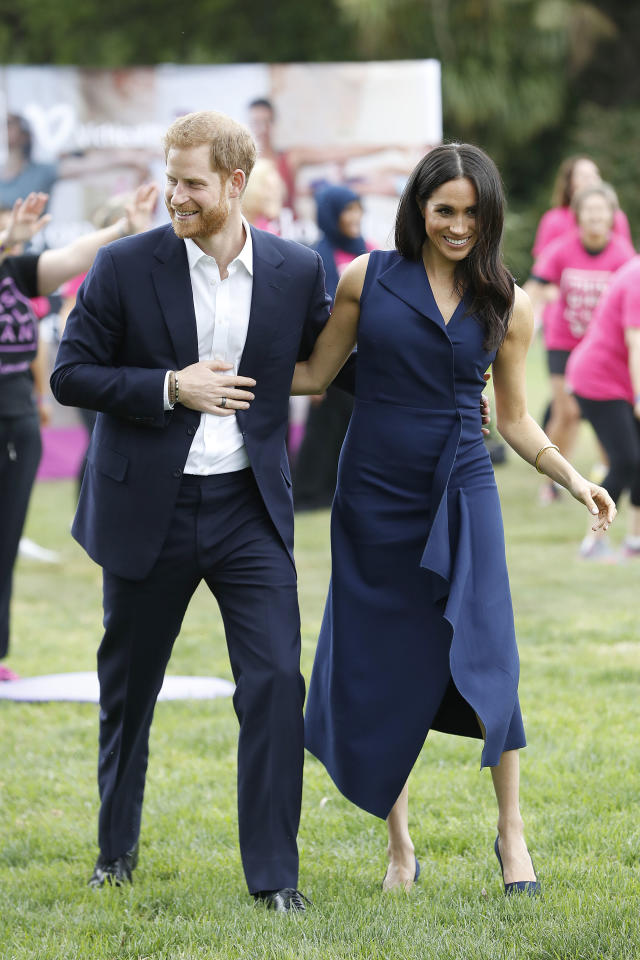 <p>The Duke and Duchess attended a reception at Government House to acknowledge influential young Australians. Photo: Getty </p>