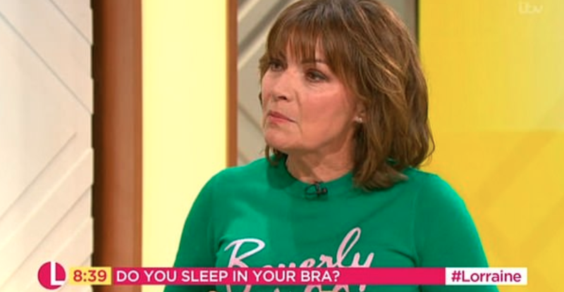 Should you wear your bra to bed  Lorraine Kelly sparks debate 4bc919303